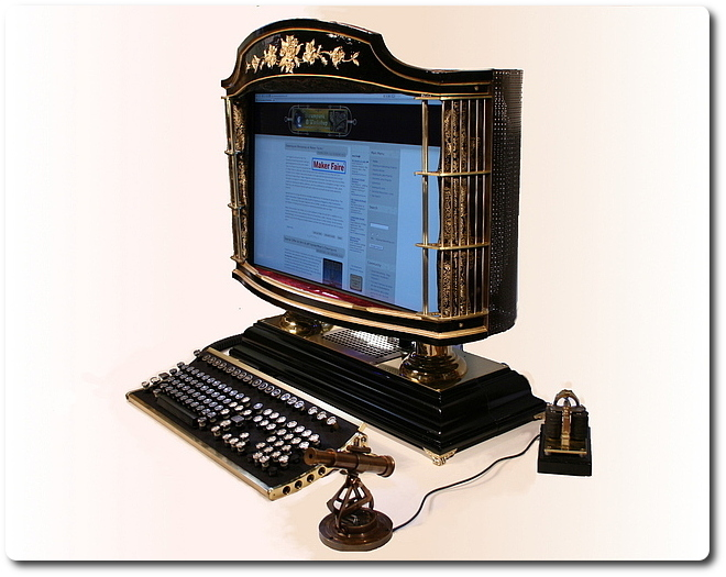 Steampunk PC (33 фото + видео)