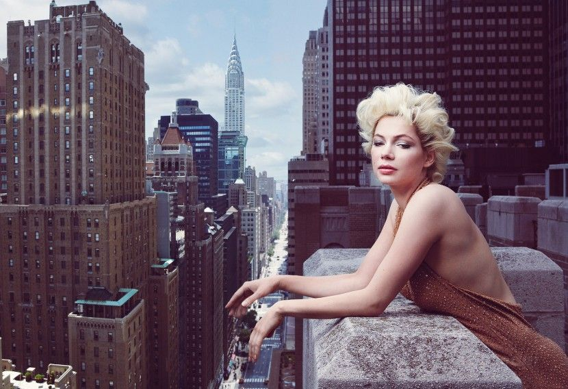 Michelle Williams в образе Мерлин Монро (10 фотографий), photo:4
